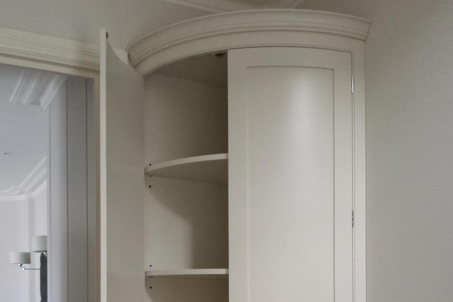 custom-made curved storage