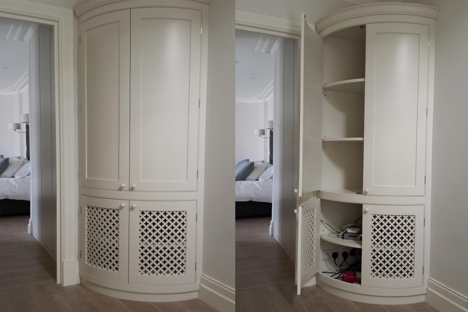 made-to-measure corner storage